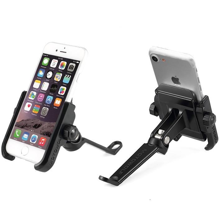 Premium Aluminium Handphone Side Mirror Mount Holder For Motorcycle Motorbike